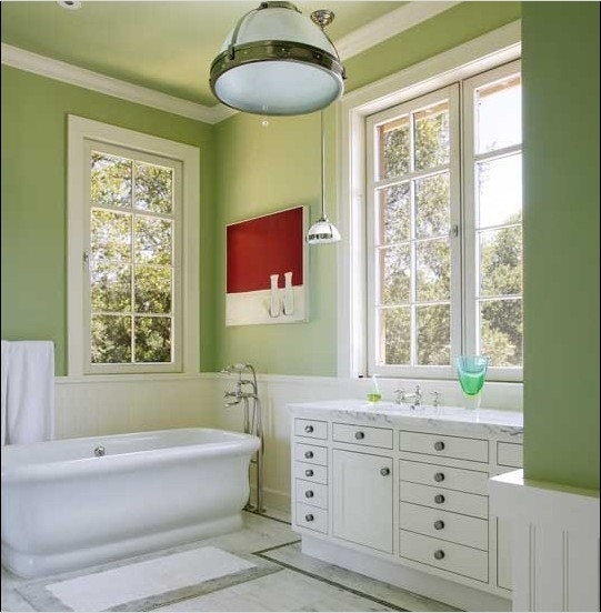 Product bathroom design for Bathroom decor green walls